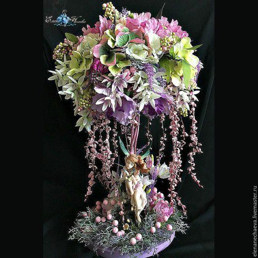 """Топиарии ручной работы. Ярмарка Мастеров - ручная работа. Купить Топиарий """"Эйва"""", дерево счастья. Handmade. Комбинированный, дерево из цветов"""