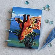 Блокноты ручной работы. Ярмарка Мастеров - ручная работа Блокноты: Жираф и Килиманджаро. Handmade.