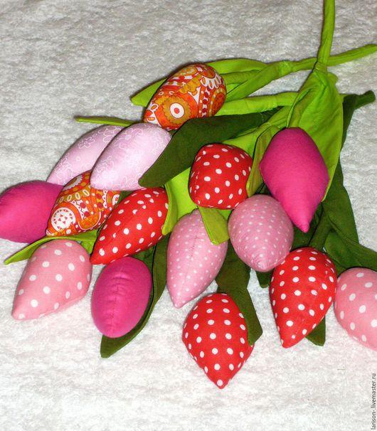 Куклы Тильды ручной работы. Ярмарка Мастеров - ручная работа. Купить Тюльпаны из ткани. Handmade. Ярко-красный, декор для интерьера