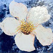 Картины и панно handmade. Livemaster - original item White Flower, oil on canvas, 50x50, 2020. Handmade.