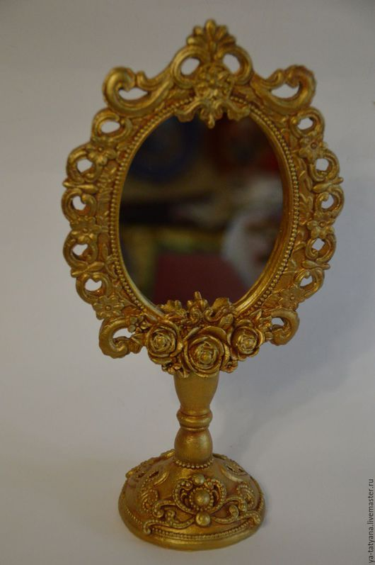 """Зеркала ручной работы. Ярмарка Мастеров - ручная работа. Купить Зеркало """"Старинное"""". Handmade. Золотой, для дома и интерьера, поликерамика"""