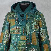 Одежда ручной работы. Ярмарка Мастеров - ручная работа пальто валяное с капюшоном. Handmade.
