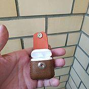 Чехол ручной работы. Ярмарка Мастеров - ручная работа Кожаный чехол для airpods. Handmade.