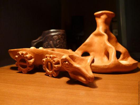 """Статуэтки ручной работы. Ярмарка Мастеров - ручная работа. Купить """"Старший брат Бориса"""". Handmade. Терракота, обжиг, крокодил"""