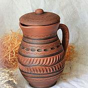 Для дома и интерьера handmade. Livemaster - original item Milk jug with flat lid. Handmade.