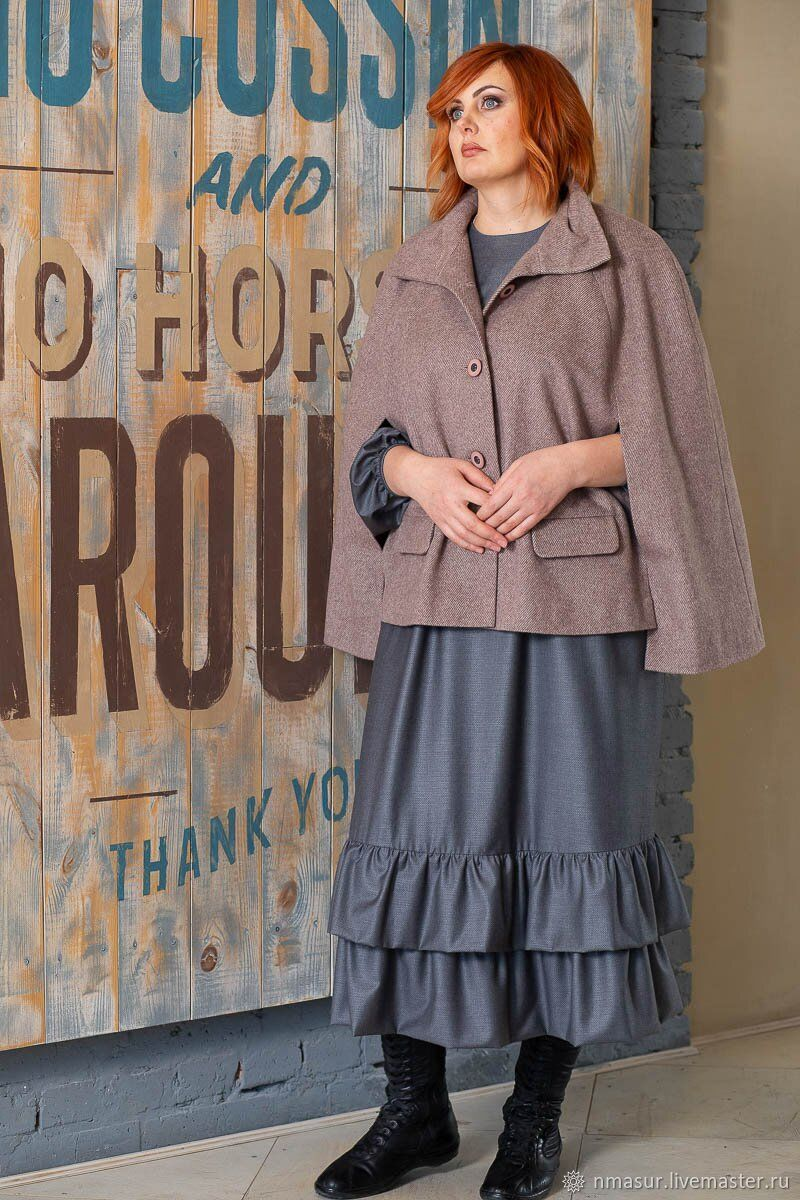 Coat Cape hat color powder, Coats, Novosibirsk,  Фото №1