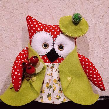 Куклы и игрушки ручной работы. Ярмарка Мастеров - ручная работа Совушка в беретике. Handmade.