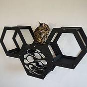 Зоотовары handmade. Livemaster - original item Three hexagon houses for cats