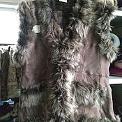Одежда handmade. Livemaster - original item Tuscan sheepskin vest 50-52. Handmade.