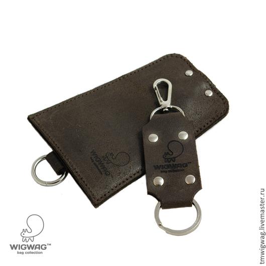 Ключницы ручной работы. Ярмарка Мастеров - ручная работа. Купить Кожаная ключница с брелком в комплекте, в наличии три цвета. Handmade.