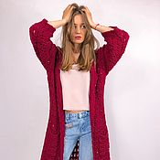 Одежда manualidades. Livemaster - hecho a mano Women`s knit trench coat. Handmade.