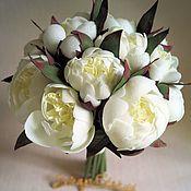 Свадебные букеты ручной работы. Ярмарка Мастеров - ручная работа Букеты: Свадебный букет невесты Пионы. Handmade.