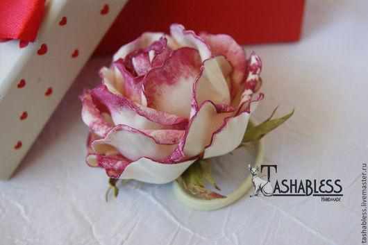 Цветы ручной работы. Ярмарка Мастеров - ручная работа. Купить Роза Эден украшение для волос. Handmade. Разноцветный, роза