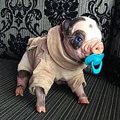 Куклы и игрушки ручной работы. Ярмарка Мастеров - ручная работа Прохор Свинка реборн Fawan. Handmade.