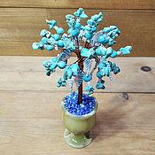 Цветы и флористика handmade. Livemaster - original item Trees: Turquoise tree