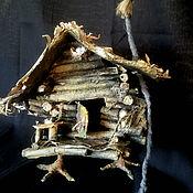 """Кукольные домики ручной работы. Ярмарка Мастеров - ручная работа авторский  сувенир """" ИЗБУШКА Бабы- Яги """". Handmade."""