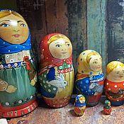 Куклы и игрушки ручной работы. Ярмарка Мастеров - ручная работа Русские матрёшки роспись. Handmade.