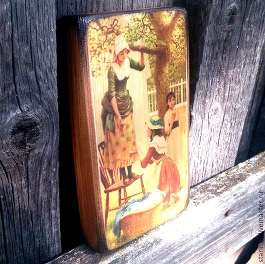 Репродукции ручной работы. Ярмарка Мастеров - ручная работа. Купить Деревянное панно Репродукция Настольный портретик. Handmade. Комбинированный