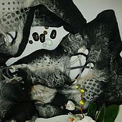 Аксессуары ручной работы. Ярмарка Мастеров - ручная работа Валяный палантин Все горошки 2. Handmade.