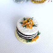 Кукольная еда ручной работы. Ярмарка Мастеров - ручная работа Кукольная еда: торт для кукол,кукольный торт. Handmade.