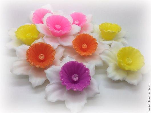 Мыло ручной работы. Ярмарка Мастеров - ручная работа. Купить Нарцисс. Handmade. Белый, цветочное мыло, 8 марта подарок