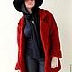 Пиджаки, жакеты ручной работы. Ярмарка Мастеров - ручная работа. Купить Пальто Oversize. Handmade. Тёмно-фиолетовый, 30% мохер
