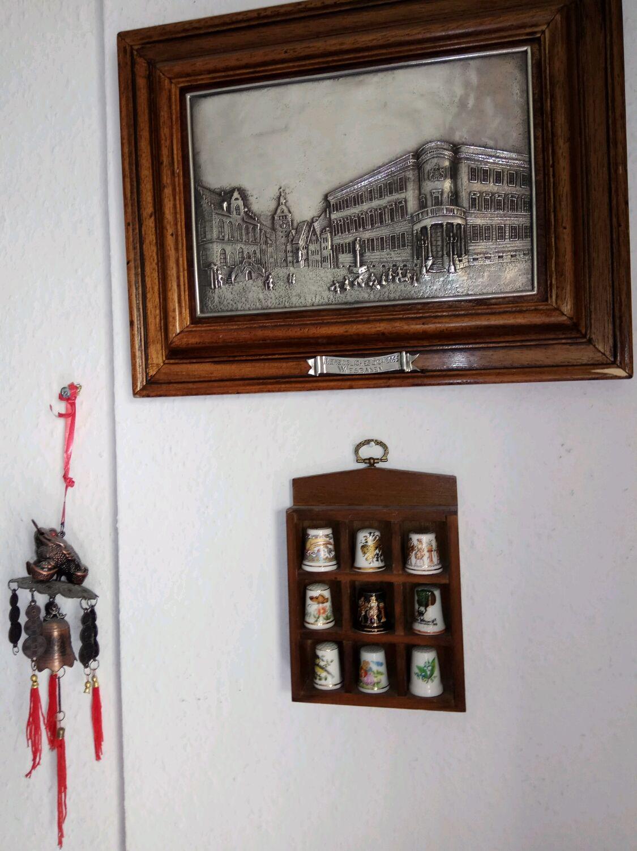 Винтаж: Комплект старинных наперстков в миниатюрном панно, Наперстки винтажные, Москва,  Фото №1