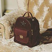 Рюкзаки ручной работы. Ярмарка Мастеров - ручная работа Женский рюкзак из натуральной кожи велюр-замши и лаковой кожи. Handmade.