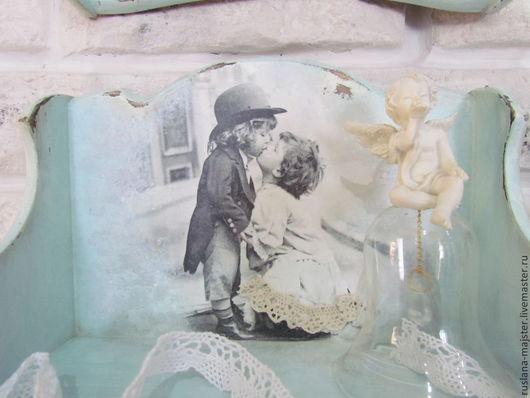 """Мебель ручной работы. Ярмарка Мастеров - ручная работа. Купить Полочки """" Ангелы всегда рядом.."""". Handmade. Декупаж"""