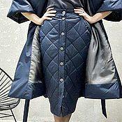 Одежда handmade. Livemaster - original item Skirt insulation Navy Blue. Handmade.