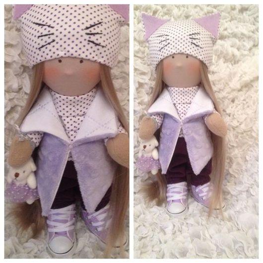 """Коллекционные куклы ручной работы. Ярмарка Мастеров - ручная работа. Купить Куколка """"Я,кошечка"""". Handmade. Коллекционная кукла"""