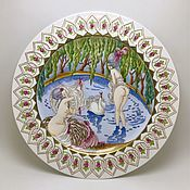 Посуда handmade. Livemaster - original item Painted porcelain. Plates collector`s