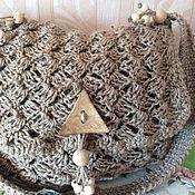 """Сумка-торба ручной работы. Ярмарка Мастеров - ручная работа Сумка-торба"""" Олюшка"""", вязаная из джута. Handmade."""