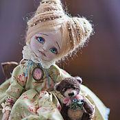 Куклы и игрушки ручной работы. Ярмарка Мастеров - ручная работа Принцесса Клементина с мишкой). Handmade.