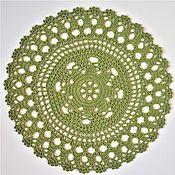 Swipe handmade. Livemaster - original item Swipe: 32 / the green GRASS napkin for serving. Handmade.
