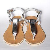 """Обувь ручной работы. Ярмарка Мастеров - ручная работа Кожаные сандалии с узким """"Т"""". Handmade."""