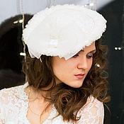 Аксессуары handmade. Livemaster - original item Winter fur wedding hat. Handmade.