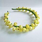 Диадемы ручной работы. Ярмарка Мастеров - ручная работа Веночек из сахарных ягод, стильное украшение на голову, ободок. Handmade.