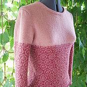Одежда ручной работы. Ярмарка Мастеров - ручная работа джемпер из шерсти с вискозой Контраст. Handmade.