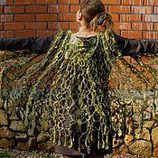 """Одежда ручной работы. Ярмарка Мастеров - ручная работа Накидка """"Лесная нимфа"""" в технике ФриФорм. Handmade."""