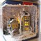 Кукольный дом ручной работы. Городок в чайной коробочке. Любовь Скупова (lskupova). Ярмарка Мастеров. Город, подарок, текстиль