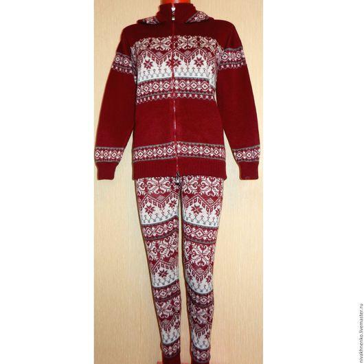 Одежда для девочек, ручной работы. Ярмарка Мастеров - ручная работа. Купить Вязаный костюм (свитер и леггинсы) с норвежским орнаментом. Handmade.