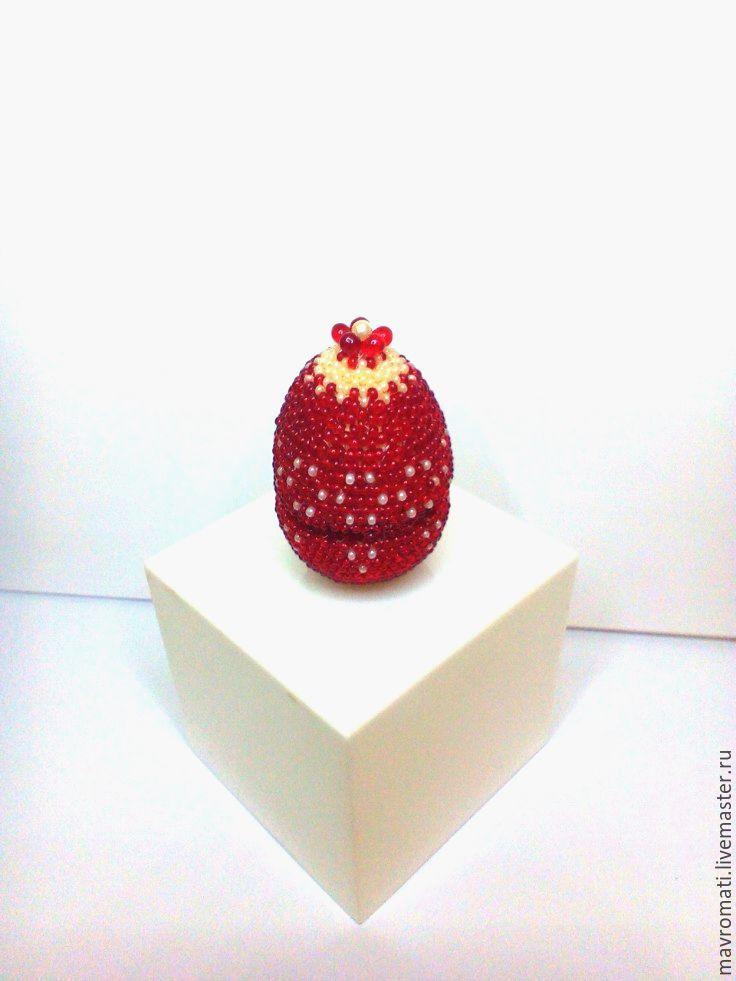 Яйца ручной работы. Ярмарка Мастеров - ручная работа. Купить Яйцо -шкатулка для колечка , оплетёное бисером. Handmade. Бисероплетение