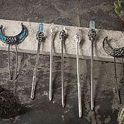 Украшения handmade. Livemaster - original item Hair sticks (Silver). Handmade.