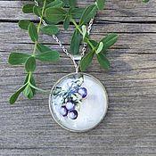 Украшения handmade. Livemaster - original item Pendant silvered Plum. Handmade.
