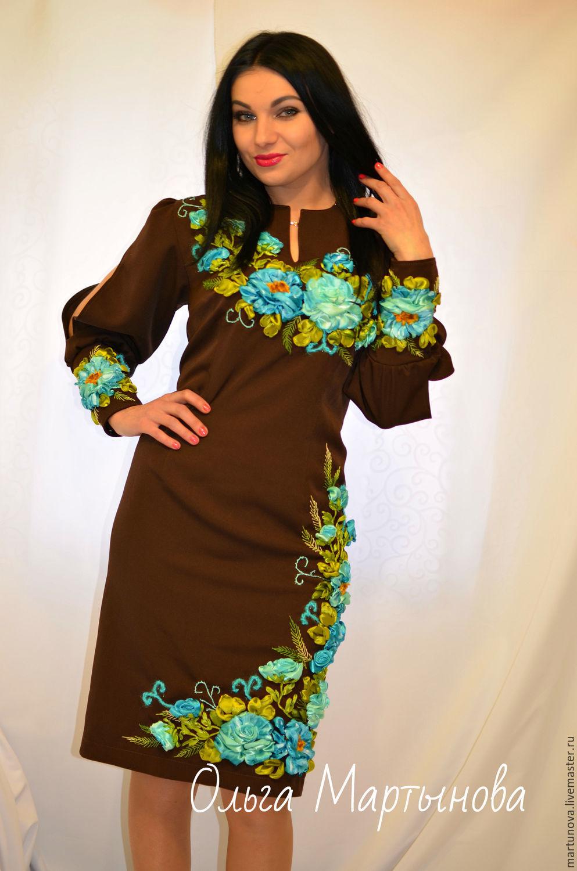 Красивые вышивки на платье