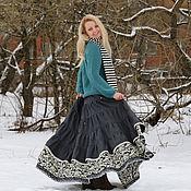 Одежда ручной работы. Ярмарка Мастеров - ручная работа Юбка в стиле бохо. Юбка теплая зимняя.. Handmade.