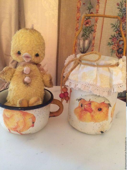 Мишки Тедди ручной работы. Ярмарка Мастеров - ручная работа. Купить Цыпленок Ийко. Handmade. Желтый, немецкий плюш