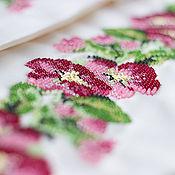 """Одежда ручной работы. Ярмарка Мастеров - ручная работа Заготовка для Блузы женской """"Малиновый букет"""", вышиванка. Handmade."""