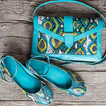 Обувь ручной работы. Ярмарка Мастеров - ручная работа Балетки из натуральной кожи питона . Балетки из питона. Handmade.